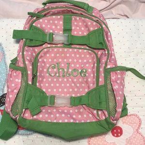 """Pottery barn kids monogrammed """"Chloe"""" backpack!"""
